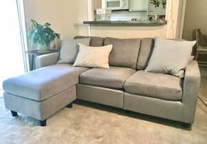 Gray sectional couch for Sale in Alexandria, VA