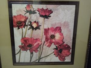 Wall art Flower with Heavy Duty Frame for Sale in Minneapolis, MN