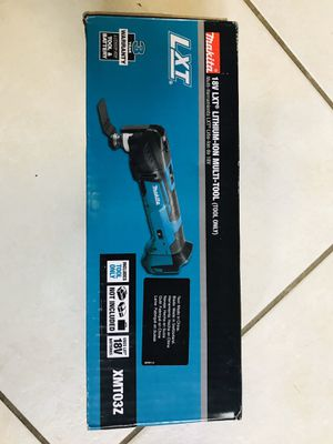 Makita 18-Volt LXT Lithium-Ion Cordless Variable Speed Oscillating Multi-Tool (Tool-Only) With Blade and Accessory Adapters for Sale in Pembroke Pines, FL