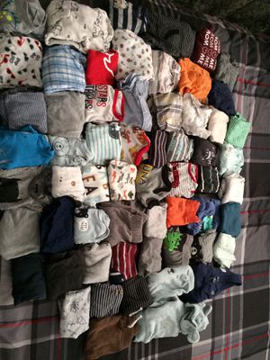 Baby boy clothes 0-3/3months for Sale in Fresno, CA