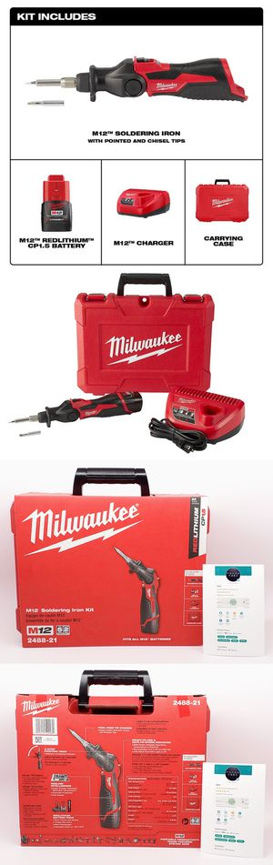 New Sealed Milwaukee M12 Cordless Soldering Iron Kit with Battery Charger & Hard Case 2488-21 for Sale in Pasadena, CA