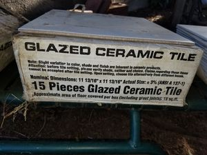 White Ceramic Tile $10 per boxAVAILABLE for Sale in San Diego, CA
