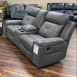 Jesolo dark gray reclining sofa and loveseat for Sale in Houston,  TX
