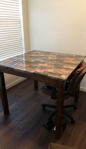 Wood with Vinyl kitchen table for Sale in Denver, CO