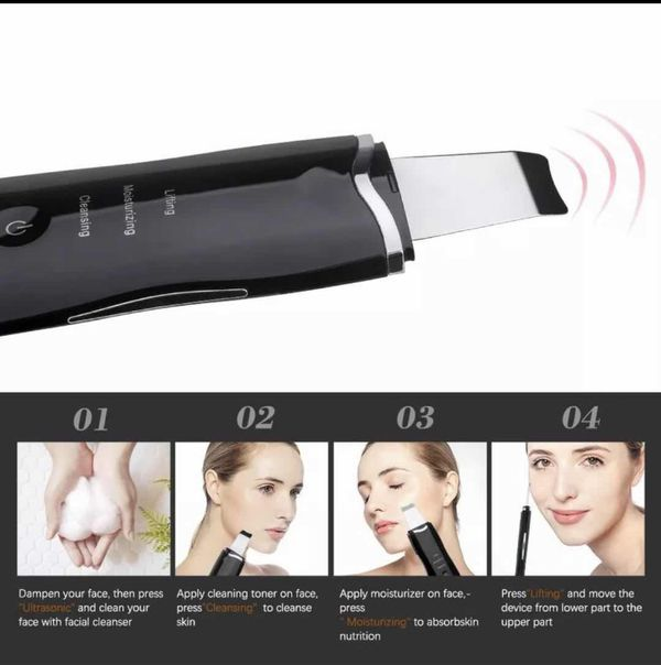Beauty Star Ultrasonic Face Cleaning Skin Scrubber Facial Cleaner Skin Free Ship $15