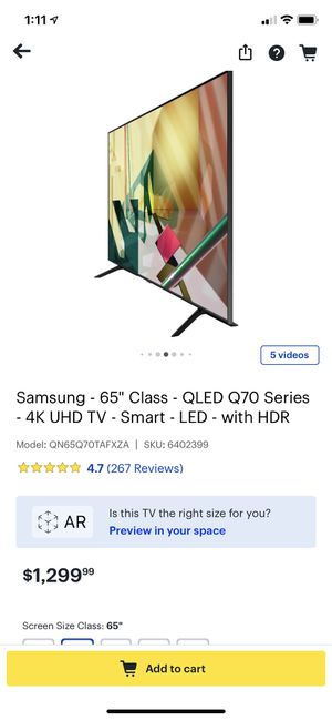 Samsung 65 inch qled for Sale in Columbus, OH
