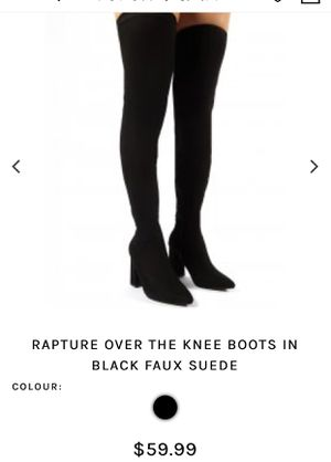Black suede thigh high boots for Sale in Houston, TX