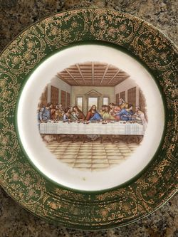 last supper plate with 24k gold trim for Sale in South San Francisco,  CA