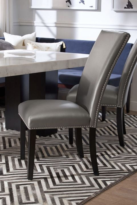 Dining table chairs quantity 4 ......The perfect complement to a genuine marble table, the Artemis Side Chair is comfortable and stylish-just what yo