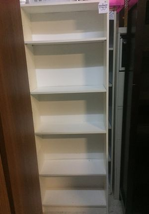 "White bookcase 6'x25""x91/2"" for Sale in Fort Worth, TX"
