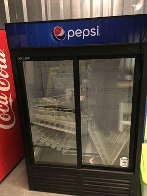 2 Compartment Refrigerator Cooler with Slide doors for Sale in Norfolk, VA