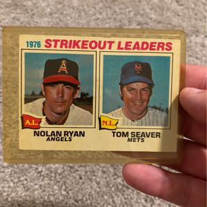 1976 Nolan Ryan , Tom Seaver Strikeout Leaders Card for Sale in Richmond Hill, GA