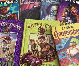 RL Stine Goosebumps and Rotten School Book LOT (value $45+) for Sale in Brooklyn,  NY