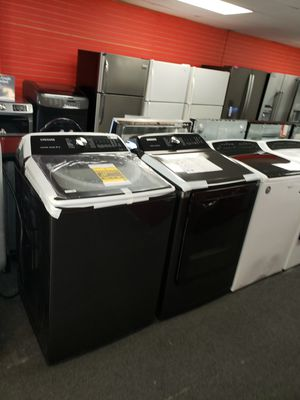 Samsung brand new electric top load set washer and dryer 6months warranty for Sale in McDonogh, MD