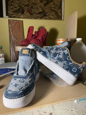 Custom Louis Vuitton /Supreme Air Force 1 Custom Not for sale. A sample of my work for Sale in San Bernardino, CA