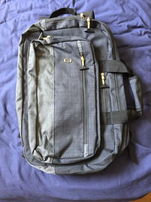 Must Sell Excellent Condition Solo Velocity Hybrid Laptop Backpack for Sale in Santee, CA
