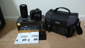 NIKON D3400 18-55 VR+70-300 KIT(Pay through OfferUp for Shipping Only) for Sale in Charlotte, NC