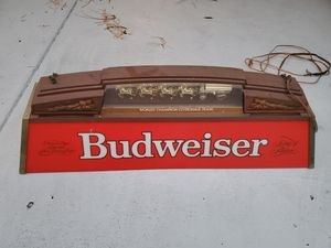 Budweiser sign clydesdale used some scratches present. Light works for Sale in Spring Hill, FL