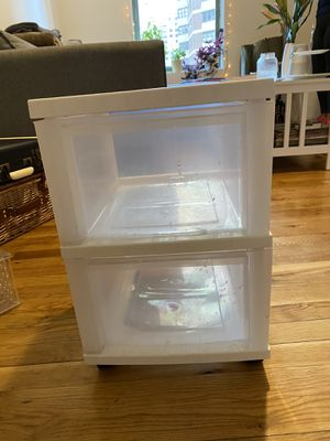 Plastic two drawer container for Sale in New York, NY