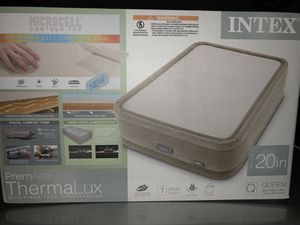 Intex thermalux queen air mattress (Brand new) for Sale in Houston, TX