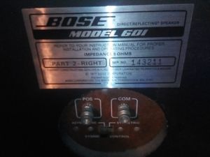 Bose 1977 home theater speakers 601 series for Sale in Vista, CA