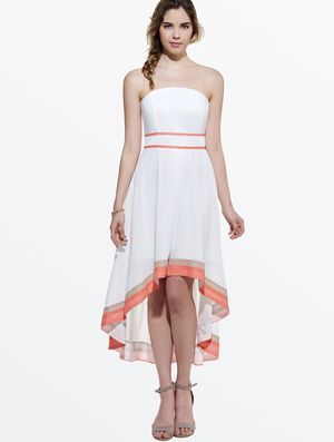 Contrast High-Low Off-the-Shoulder Day Dress for Sale in Upper Marlboro, MD