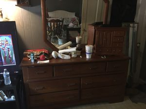 Chester drawers and dresser with head board for Sale in Pulaski, TN