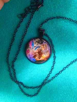 BLaCk GLasS FaiRy TiGeR PeNdaNt NeCkLaCe for Sale in Bountiful, UT