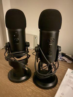 2 Blue Yeti Microphones for Sale in Hoboken, NJ
