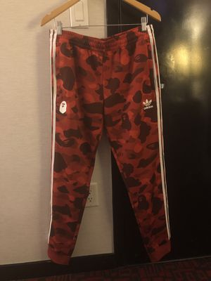 BAPE x Adidas adicolor Track Bottom Raw Red for Sale in Herndon, VA