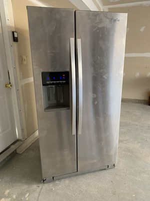 Stainless Steel Whirlpool Side-by-Side Refrigerator for Sale in Germantown, MD