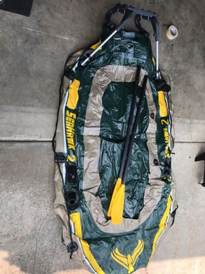 Custom seahawk 2 intex inflatable boat for Sale in Sherwood, OR