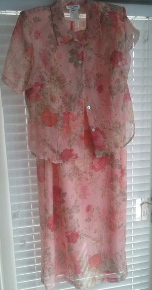 Mother of The Bride Sheer Floral Sheath Dress W/Jacket/18W for Sale in Germantown, MD