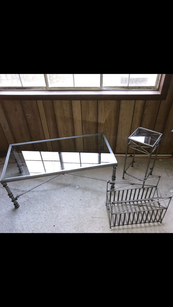 3-piece Metal Framed Table Set