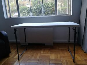 Foldable white table 24in x 48 in for Sale in Washington, DC
