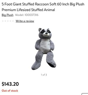 5ft stuffed Raccoon for Sale in Los Angeles, CA