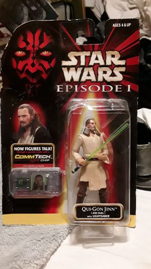 UNOPENED HASBRO 1998 QUI GON JINN STAR WARS ACTION FIGURE for Sale in Los Angeles, CA