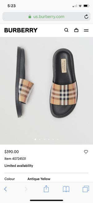 Burberry Vintage Sandals (New) for Sale in Corona, CA