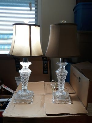 Glass table lamp for Sale in Silver Spring, MD