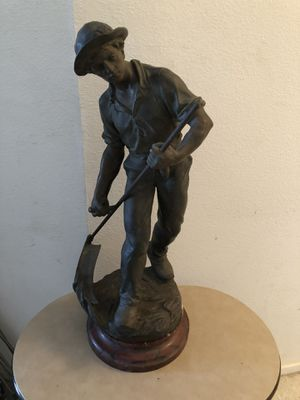 """A Antique Early 1900s Le Faucheur Bronze 27"""" tall statue. Estimate value is $400 to $600 for Sale in Vacaville, CA"""