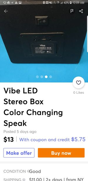 Vibe LED Changing/Dancing Lights to Music Speaker for Sale in Seattle, WA