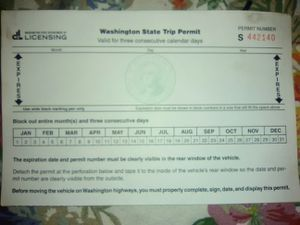 Trip permit for Sale in Aberdeen, WA