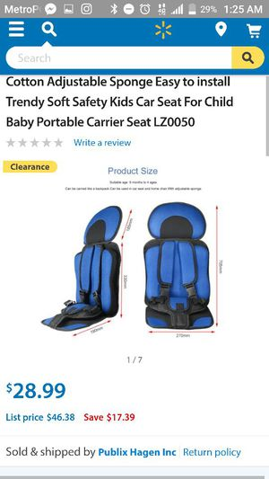 2 Protable car seat. 9mths to 6yrs for Sale in Richmond, VA