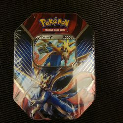 Zacian V Legends of Galar 2021 Pokemon TCG Tin Factory Sealed for Sale in Tampa,  FL