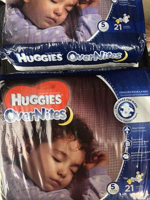 Huggies overnights size 5 for Sale in Syracuse, UT