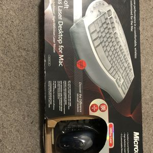 Microsoft Wireless Laser Desktop Ergonomic Curve Keyboard & Mouse 6000, Mac (Open Box), Never Used for Sale in Castro Valley, CA