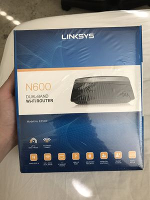 Brand New Linksys N600 dual-band wifi router 2.4+5 GHz upto n300 model No: E2500 for Sale in Arlington, TX