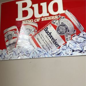Bud King Of Beers Tin Sign (pretty Big Size) for Sale in Macomb, MI