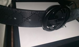 Black leather gucci belt with tags and code for Sale in Ontario, CA