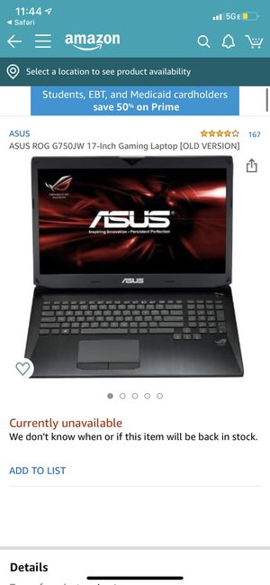 Gaming laptop can trade for hyped shoes for Sale in Westminster, CA